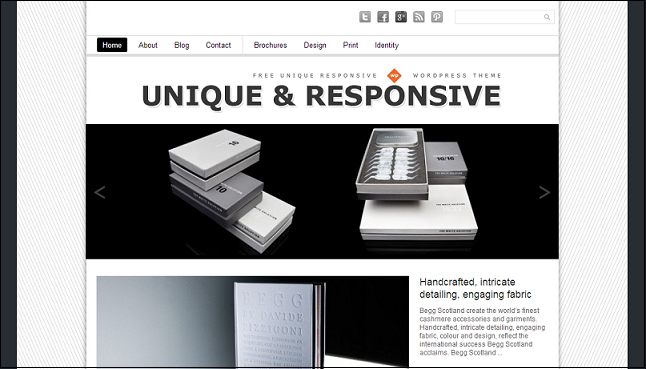 Uniqu wordpress theme