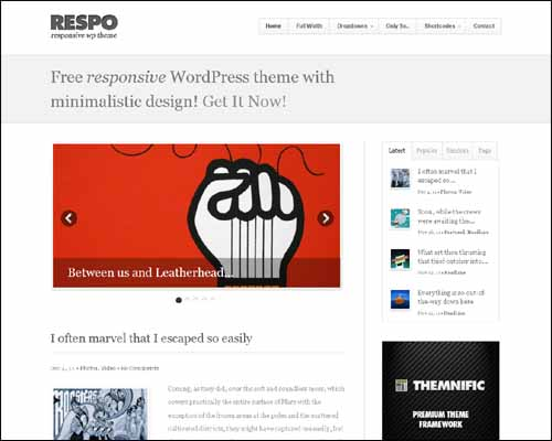 respo wordpress theme