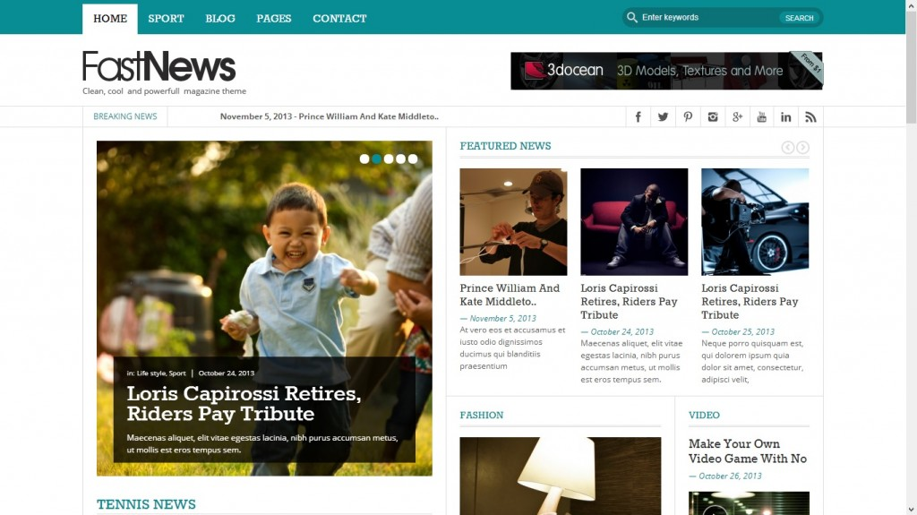 Fast News WordPress Theme