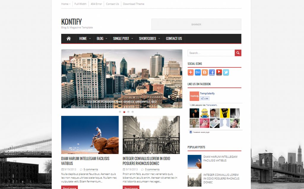 Kontify Magazine Blogger Template