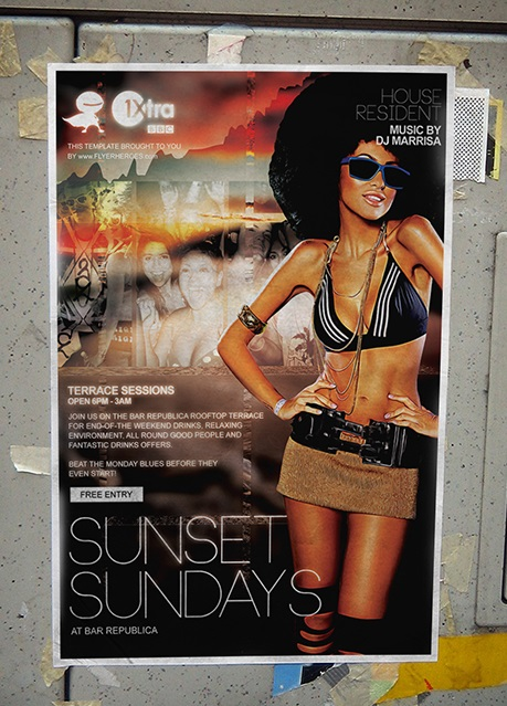 Sunset Sundays Flyer Template