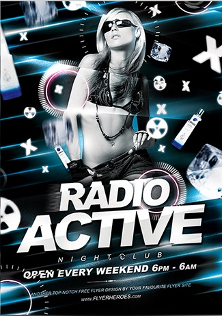 radio active flyer template