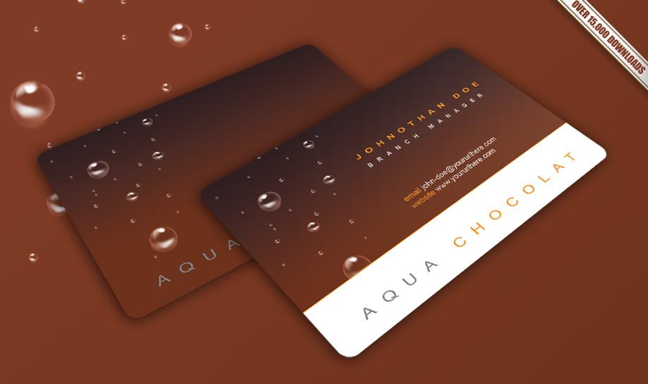 Aqua Chocolat Business Card