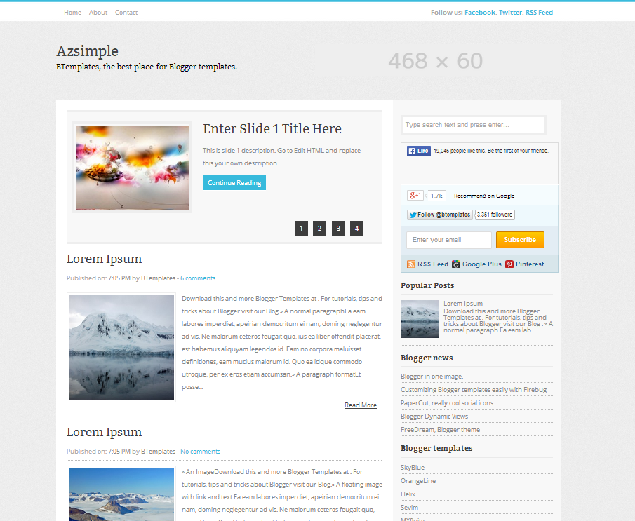 Azsimple Blogger Template