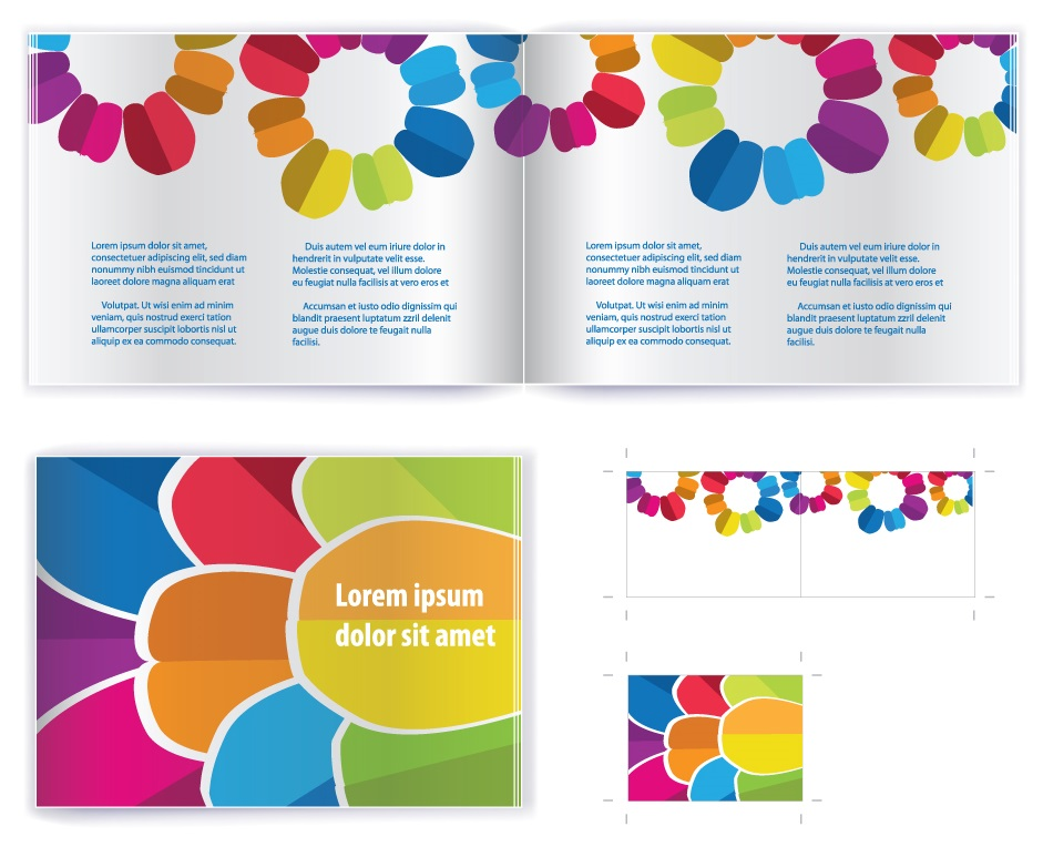 Beautiful Vector brochure template