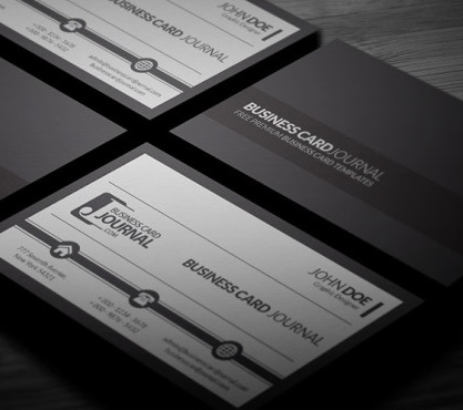 Black and White Corporate Business Card