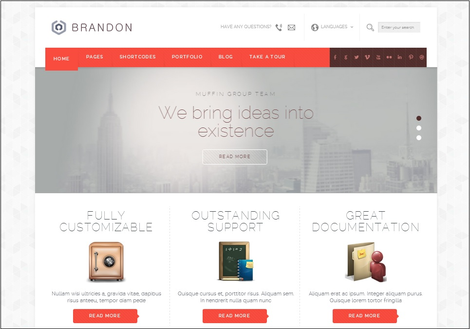 Brandon WordPress theme