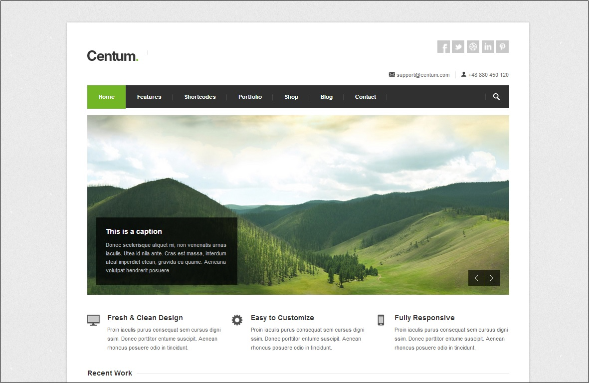 Centum WordPress theme