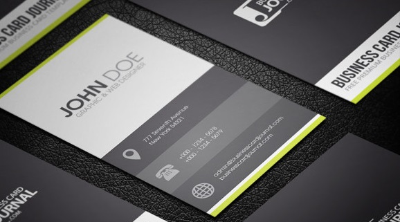 Clean & Minimal Metro Style Business Card Template