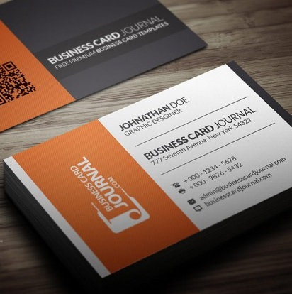 Contrasting Modern Corporate Business Card