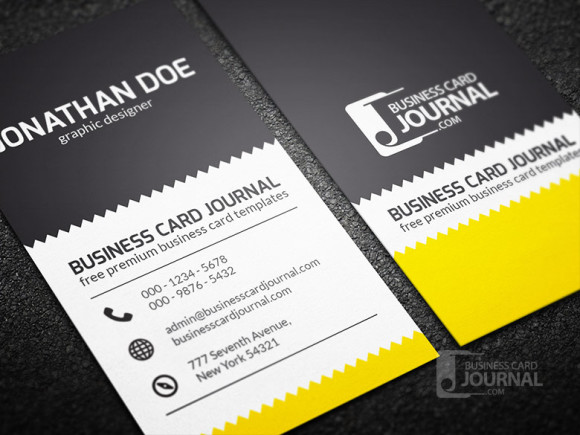 46 free photoshop psd business card templates feedtip creative zigzag design business card template reheart Images