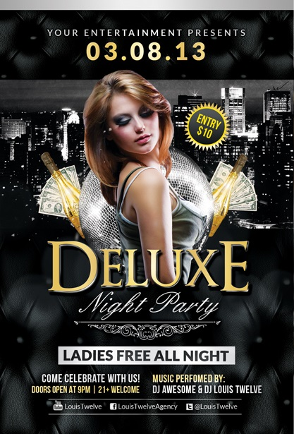 Deluxe Night Flyer Template