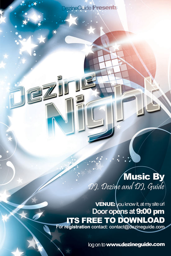 Dezine Nights Flyer Template