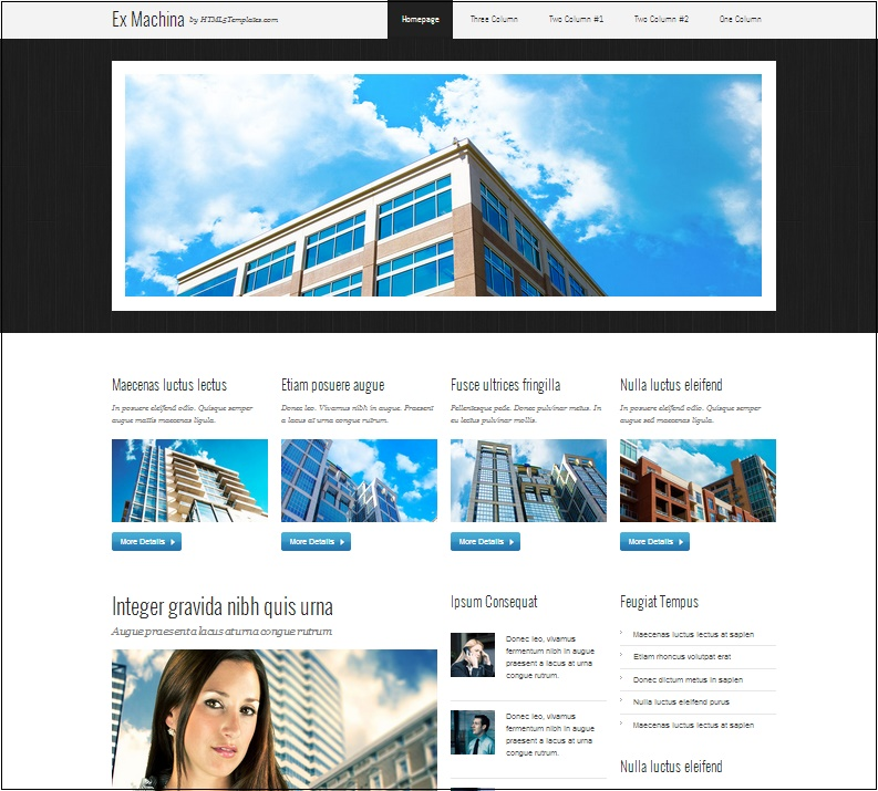 35 Responsive Free HTML5 CSS3 Templates For Website Design