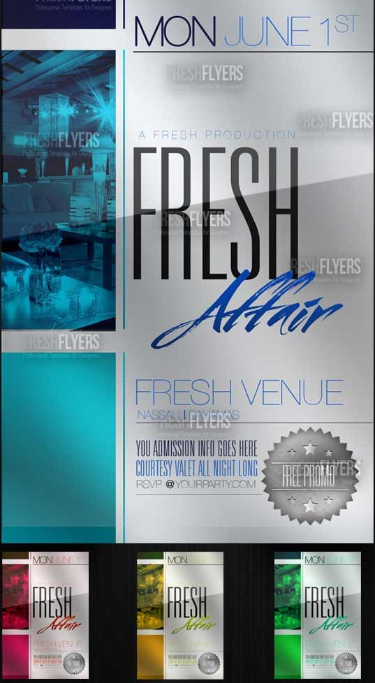 FRESH AFFAIR PARTY FLYER TEMPLATES