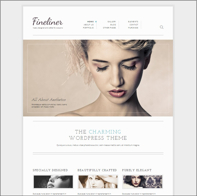 Fineliner WordPress Theme