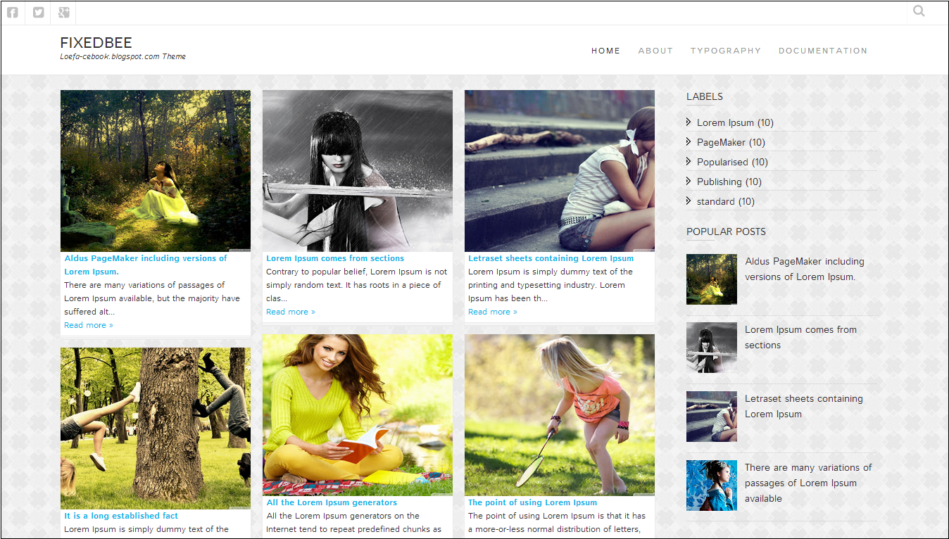 Fixedbee Blogger Template