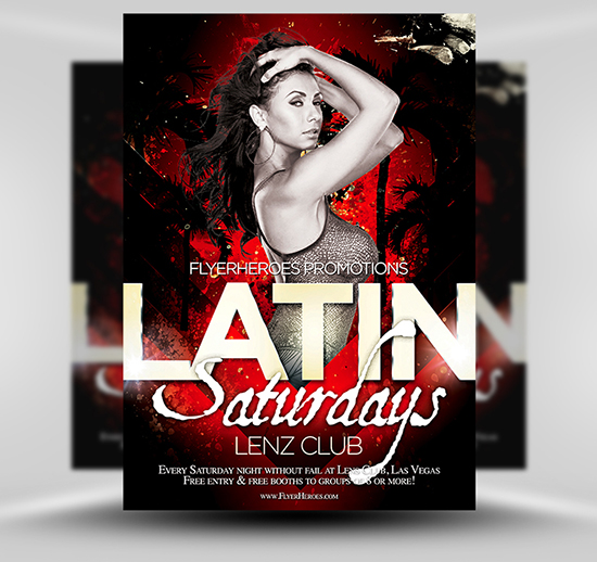 Free Latin Night Flyer