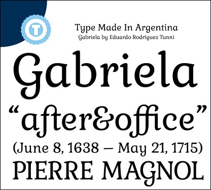 Gabriela Google Web Font