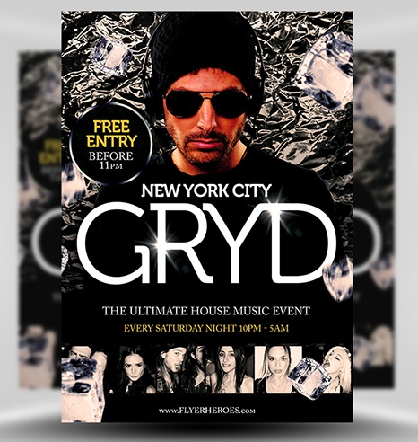 Gryd DJ Flyer Template