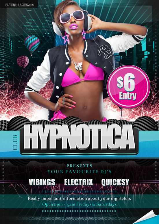 Hypnotica Club Flyer Template