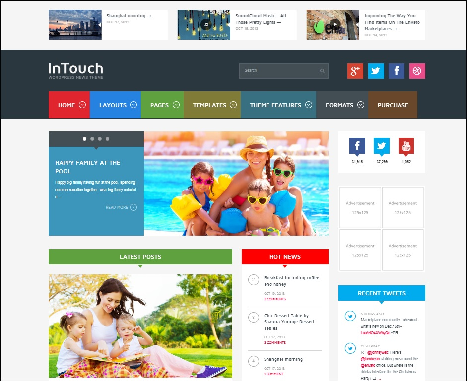 Intouch WordPress Theme