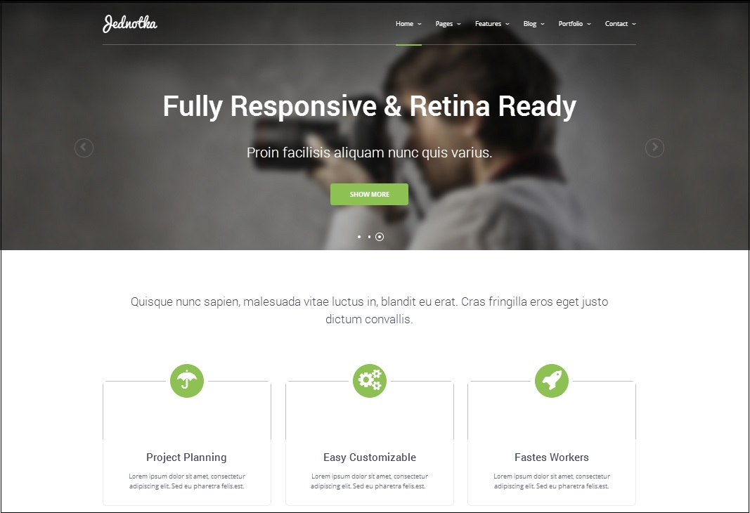 Jednotha  WordPress theme