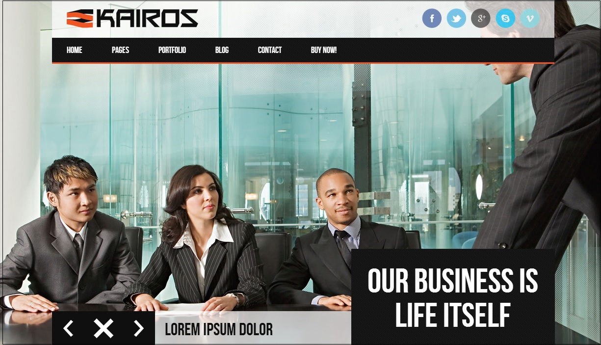 Kairos WordPress theme