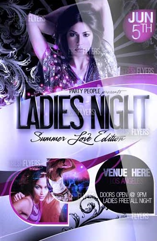 LADIES NIGHT FREE PARTY FLYER TEMPLATE