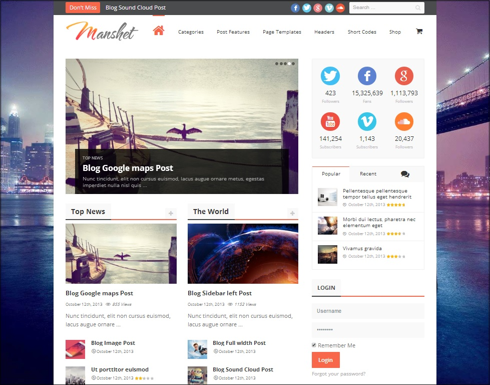 Manshet magazine theme