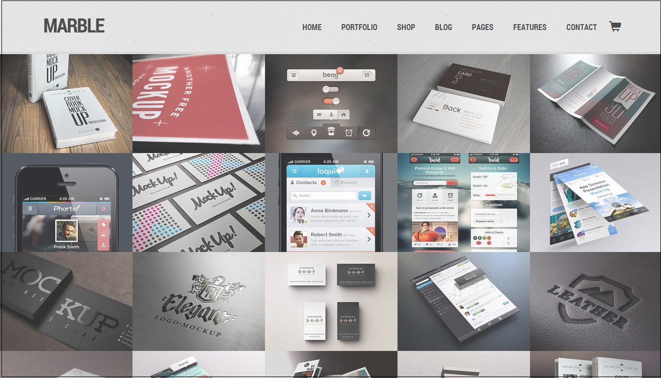 Marble WordPress Theme