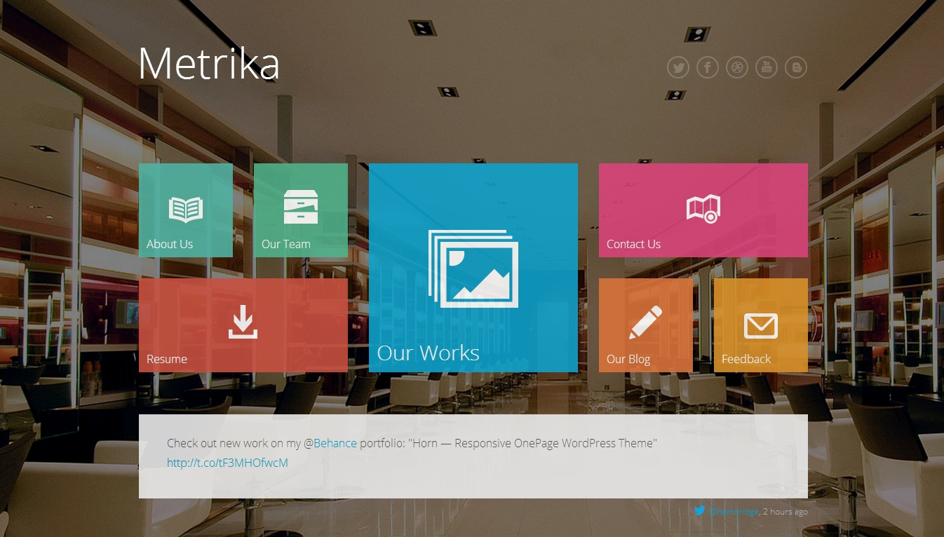 Metrika  WordPress Theme