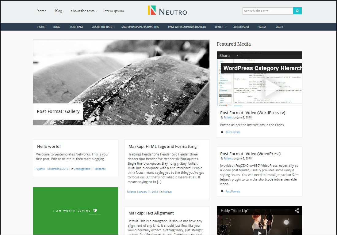 Neutro WordPress Theme