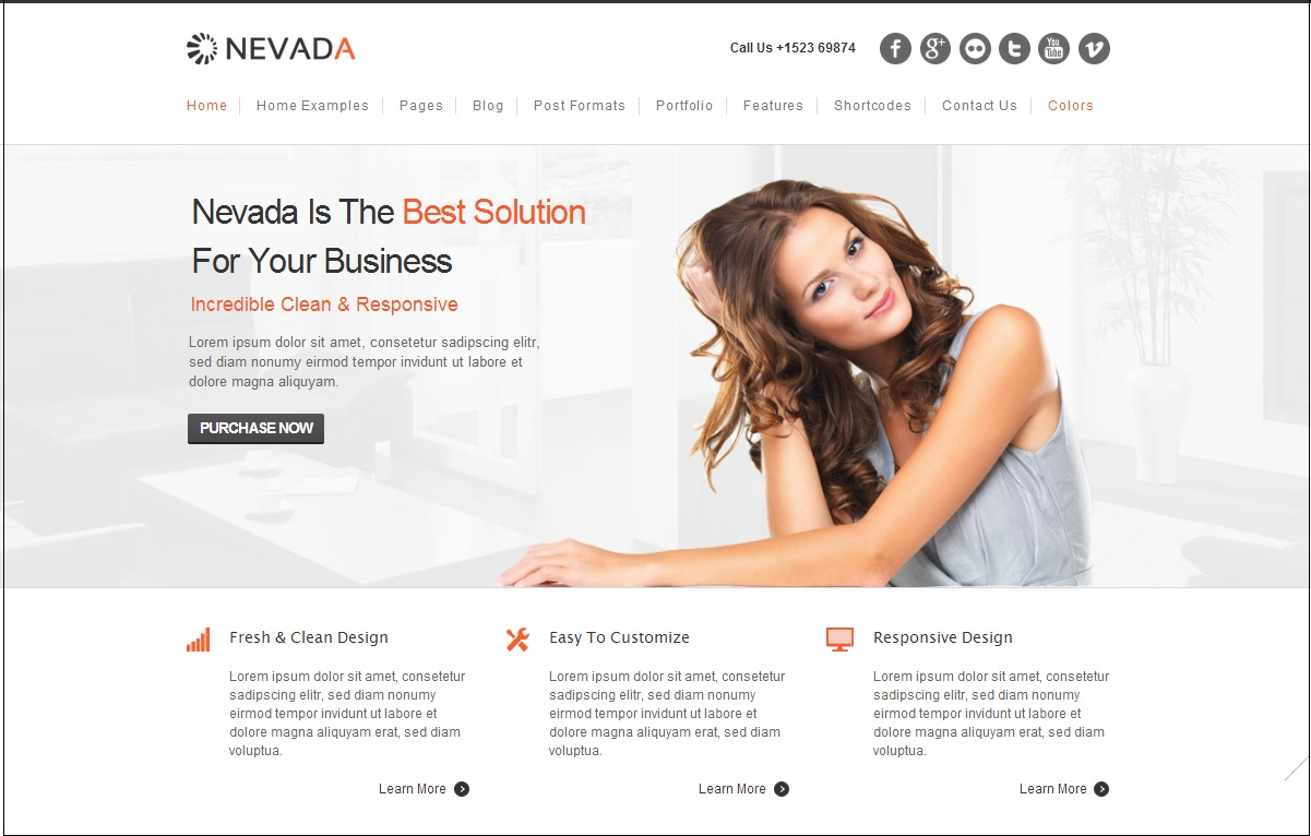 Nevada WordPress theme