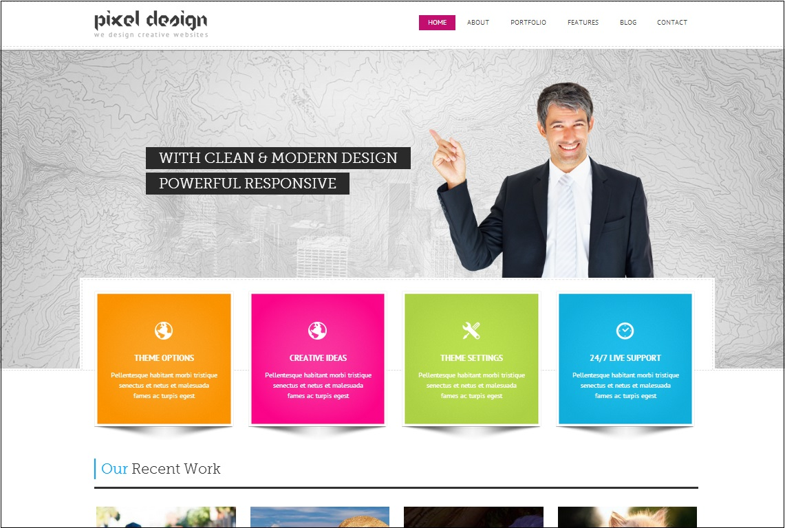 Pixel Design WordPress theme