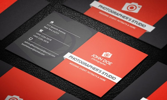 Professional Photography Business Card.