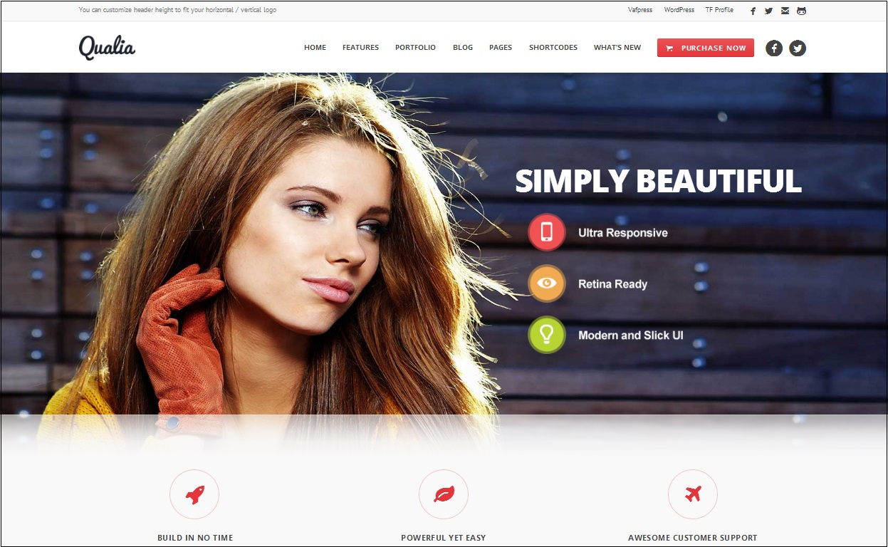 Qualia WordPress theme