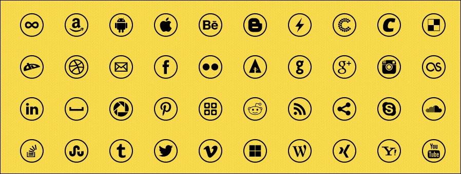 RONDO Social Icon Font