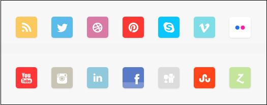Rise Social Icon Set