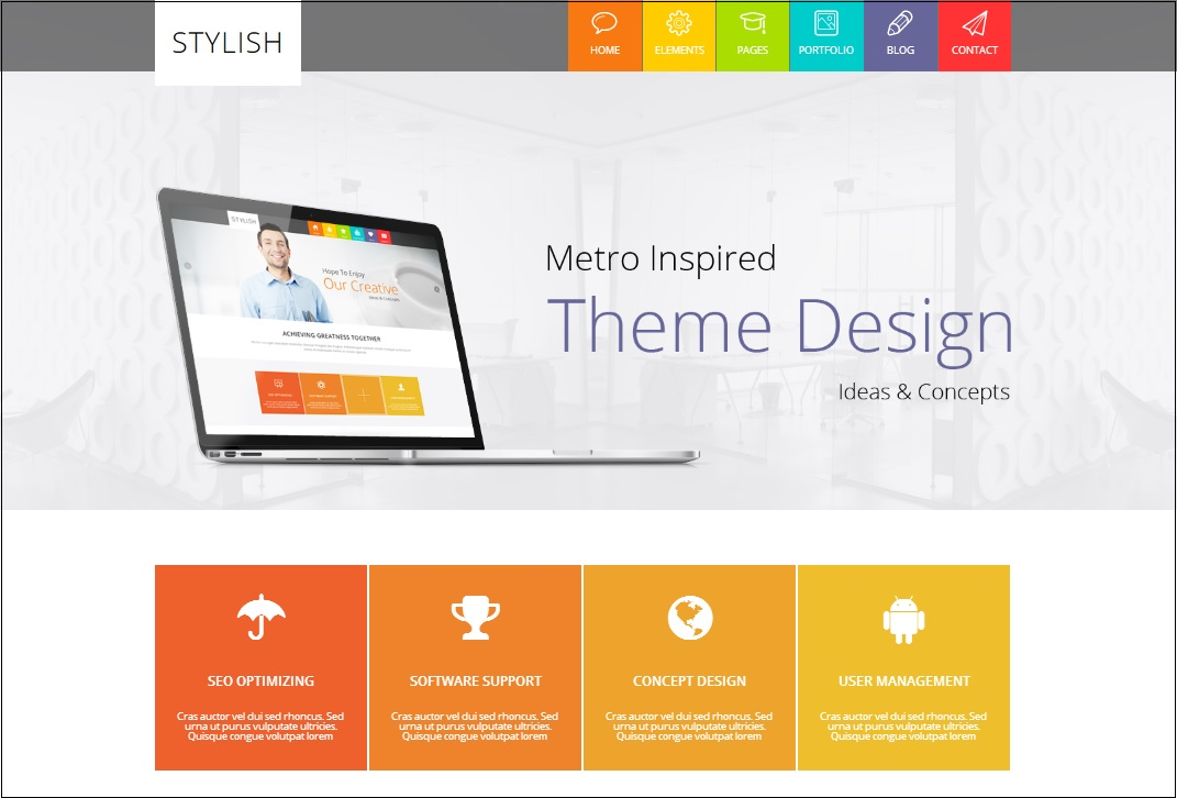 STYLISH Metro WordPress theme
