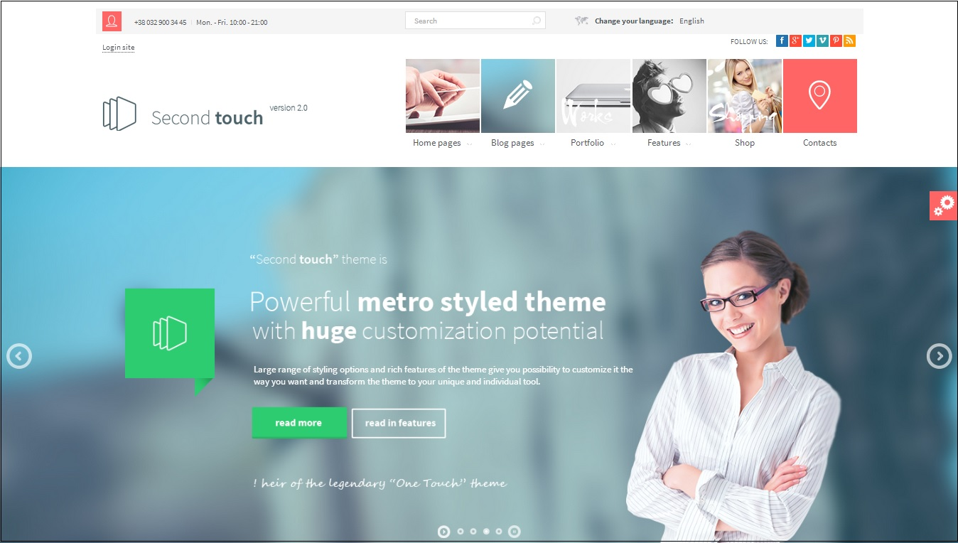 Second Touch WordPress theme