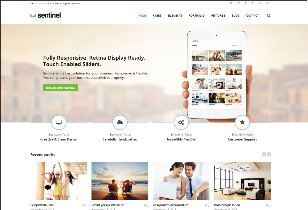 Sentinel WordPress theme