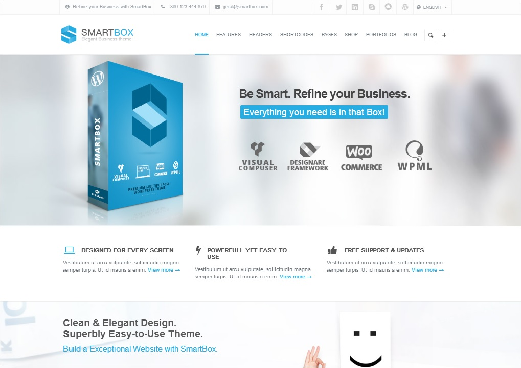 Smartbox WordPress theme