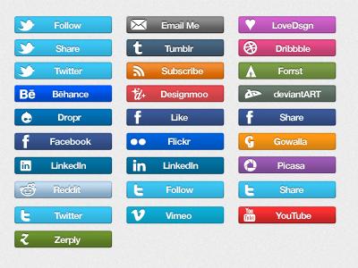 Social Icon Bars