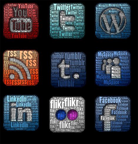 Social Media Text Icons