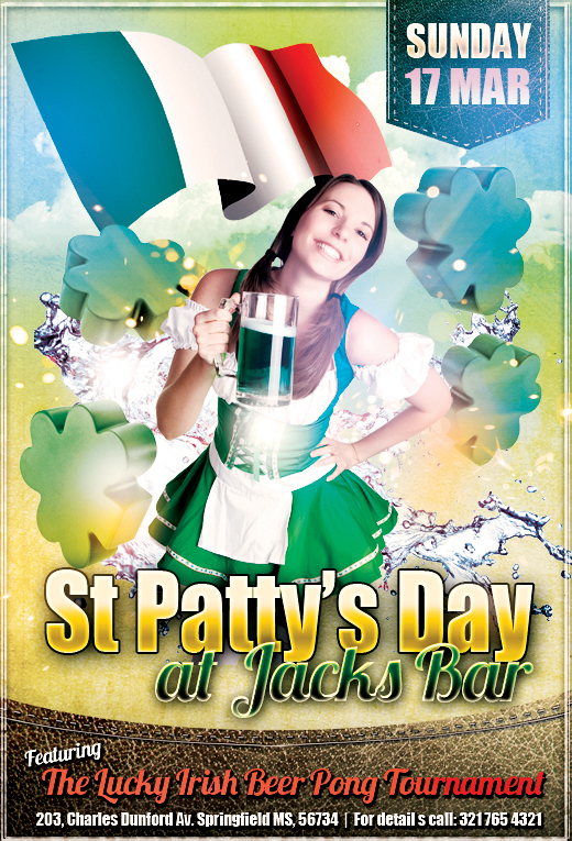 St. Patrick's Day Designs Template 2
