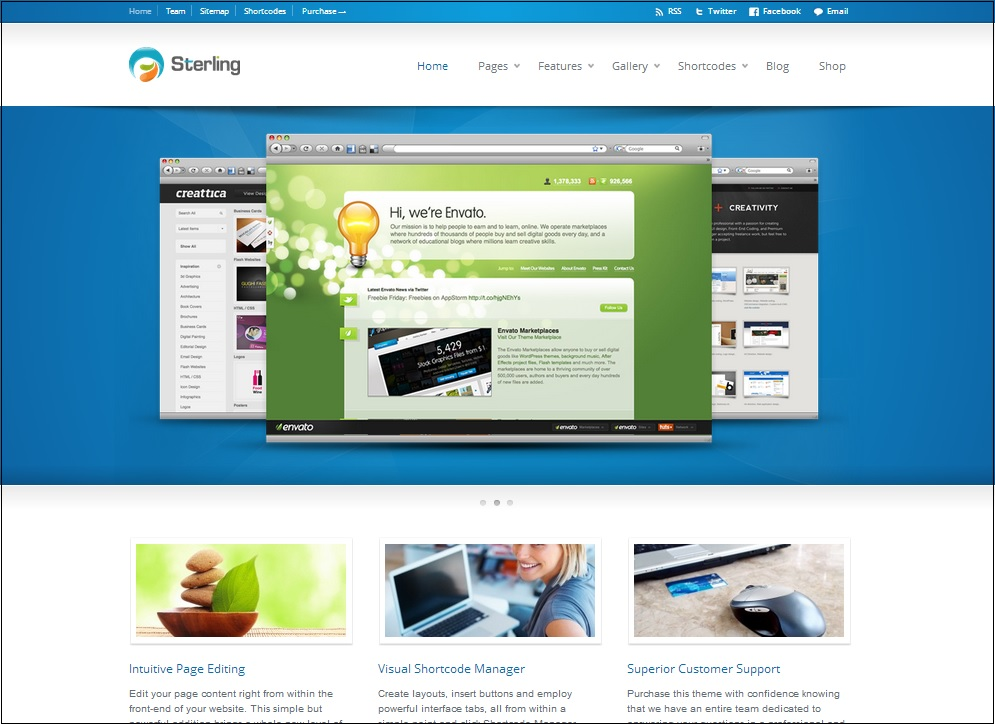 Sterling WordPress theme