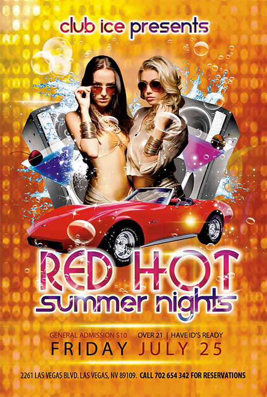 Summer Photoshop Party Flyer Template