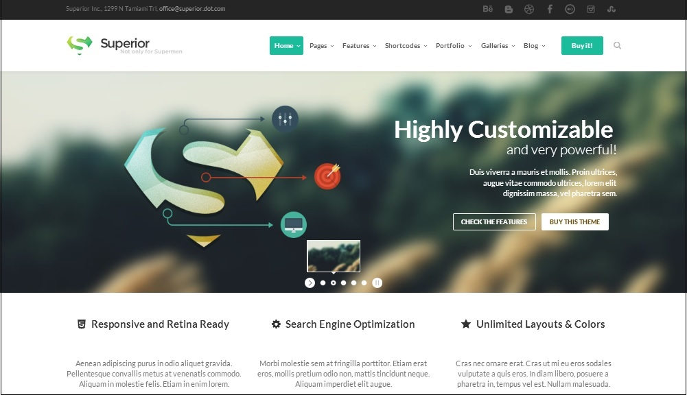 Superior WordPress theme