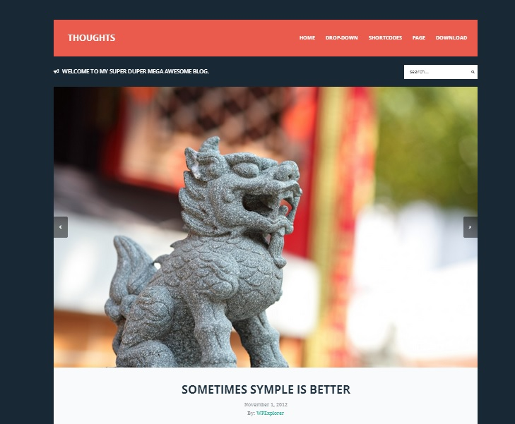 Thoughts wordpress theme